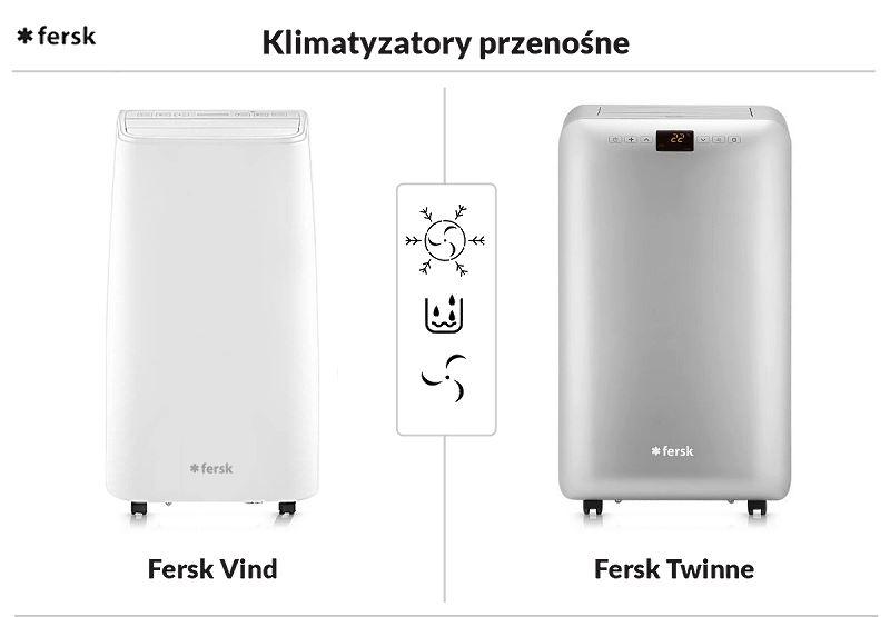 Klimatyzator przenośny Fresk Twinne i Fresk Vind