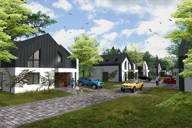 Wizja nowego osiedla domów energooszczędnych na Wawrze